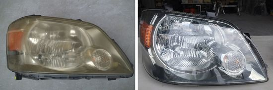 ヘッドライト黄ばみ除去の施工事例